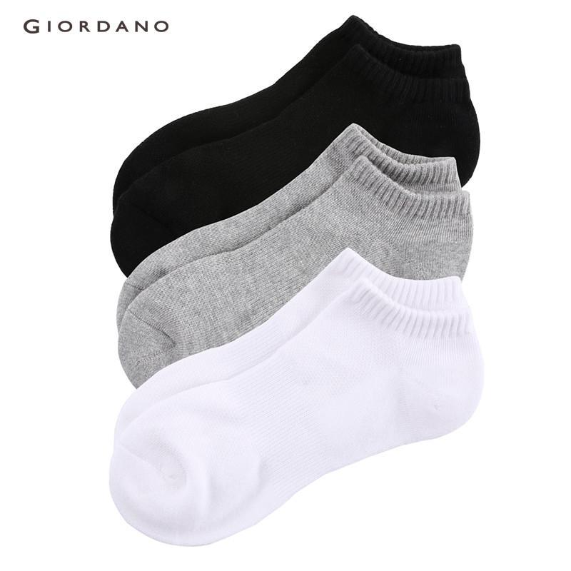 f98748d4488  3 PACKS  Giordano Men Socks Solid Ankle Socks For Men Pack Of 3 Cotton