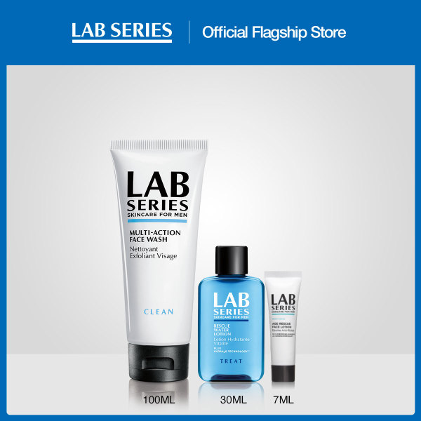 Buy [July Exclusive at $45] Lab Series Multi-action Face Wash + Rescue Water Lotion 30ml + Age Rescue Face Lotion 7ml (WORTH $68) Singapore