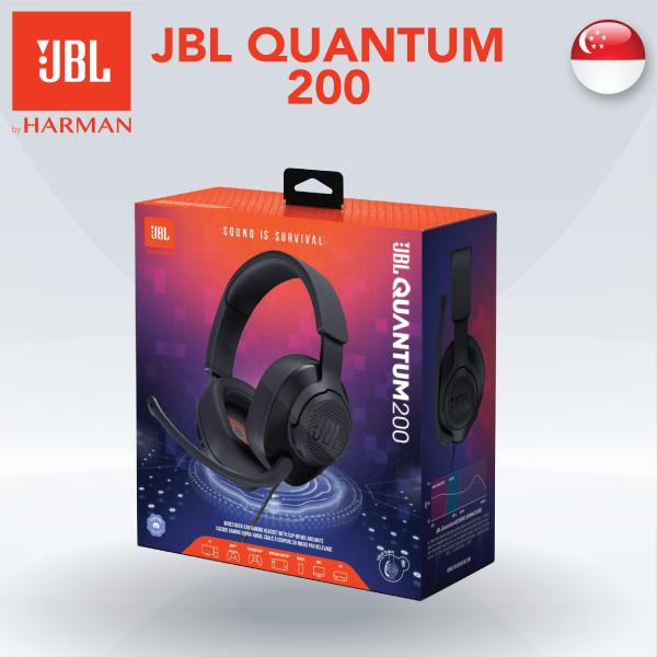 [SG] JBL Quantum 200 - Wired Over-Ear Gaming Headphones/Earphones Gaming Headset - Black Singapore