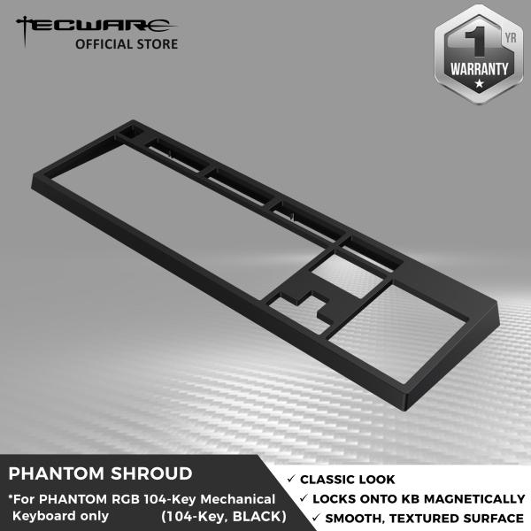 Tecware Phantom Shroud Classic Magnetic Top cover for Phantom 104 Keys Keyboard [2 Color Options]