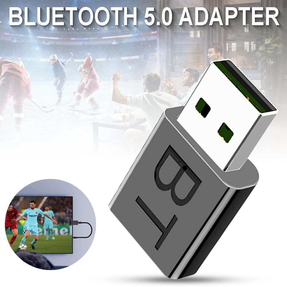 Bluetooth Adapter Bluetooth 5.0-tone Receiver 2-in-1 Drive-free Plug and Play Dongle for PC Laptop Computer Desktop Stereo Music Skype Calls Windows 10 8.1 8 7 XP vista/Mac
