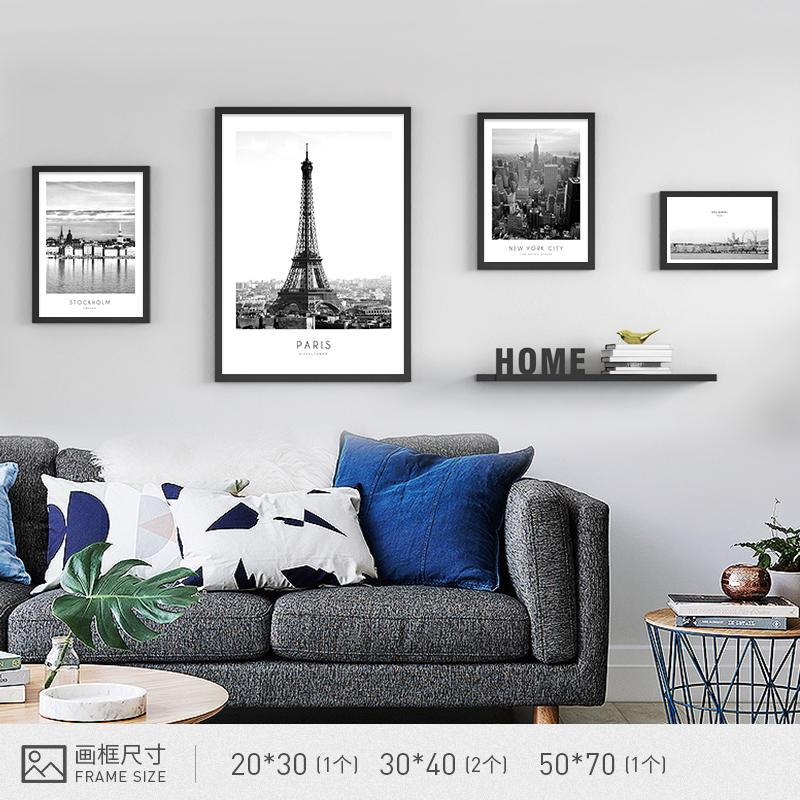 Modern Minimalist Living Room Nordic Combination of Paintings Sofa Wall Decorative Painting Restaurant Paintings Bedroom Wall Painting