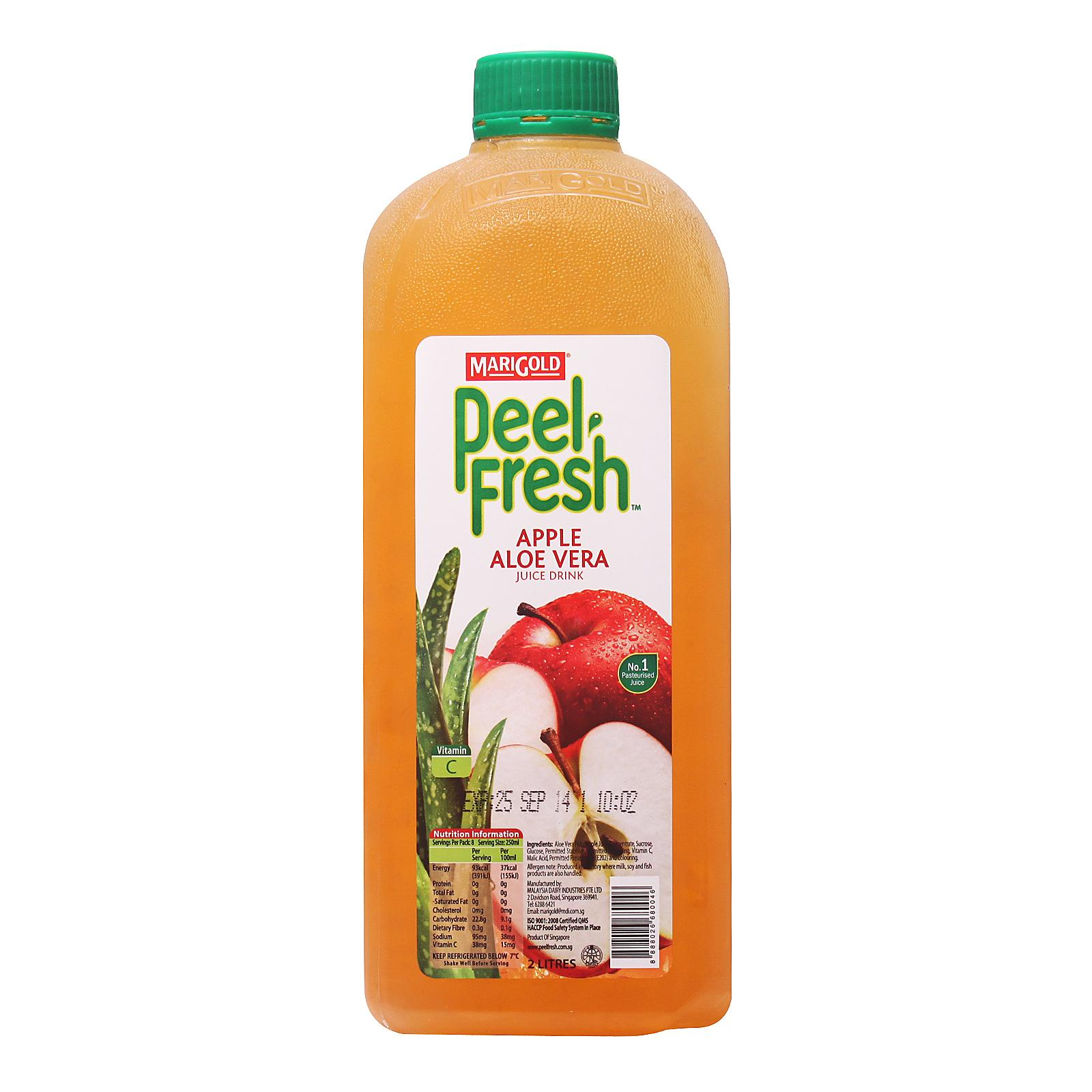 MARIGOLD Peel Fresh Juice Drink - Apple Aloe Vera 2L