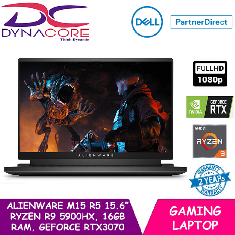 【Ready stock】DYNACORE - DELL ALIENWARE M15 R5 GAMING LAPTOP 15.6 FHD | R9 5900HX | GeForce RTX™ 3070 | 16GB RAM | 1TB SSD | WIN 10 HOME | 2 YEARS WARRANTY