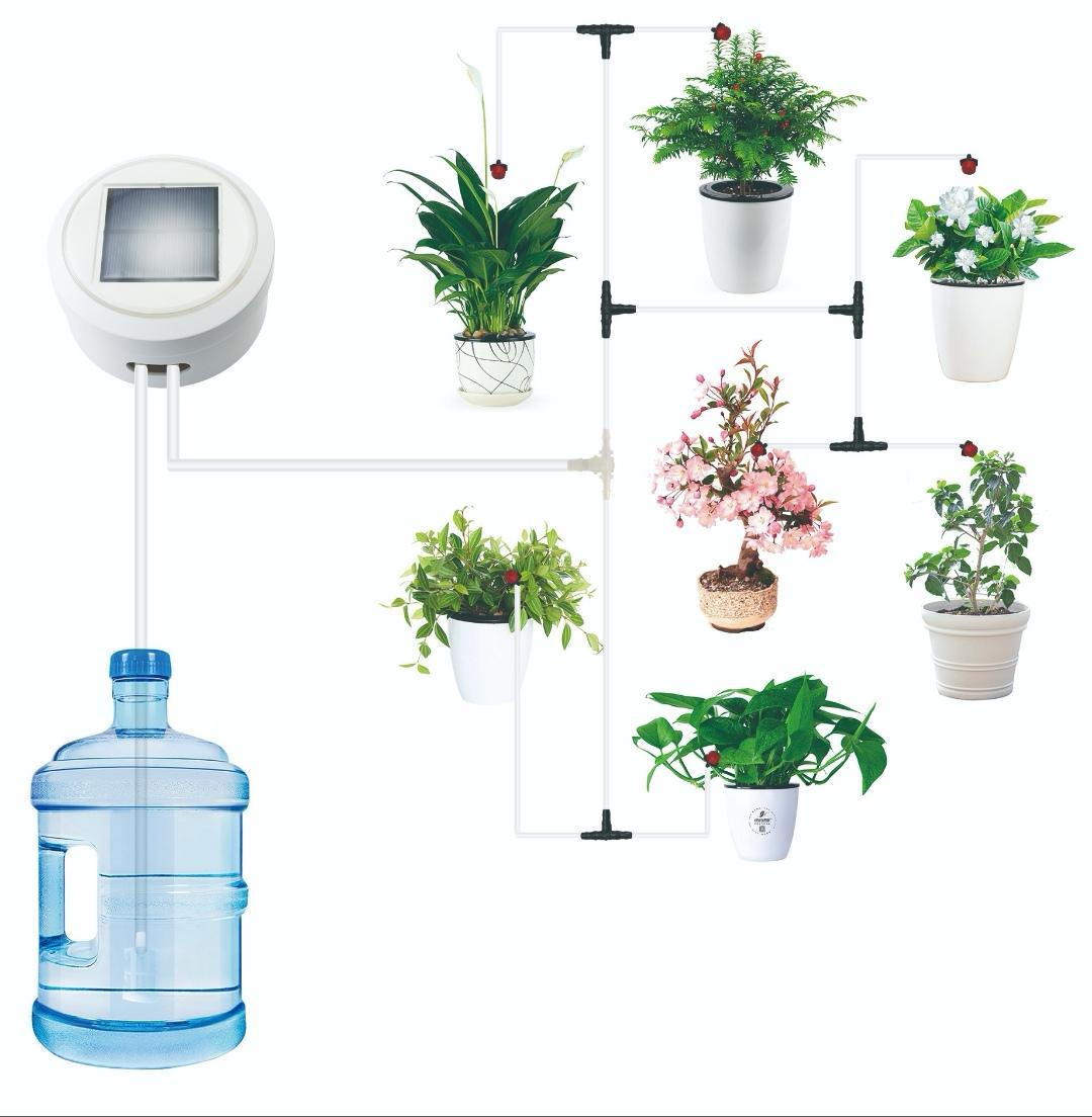 [SG Seller] Automatic Self Watering System/ Solar or Power Plug/ Timer & Frequency/ Energy Saving/ Easy Set Up/ Low Maintainence/ Various Watering Modes/ Up to 15 or more pots Gardens Balcony Ready Stock Plants Irrigation Drip Succulents Tool Intelligent