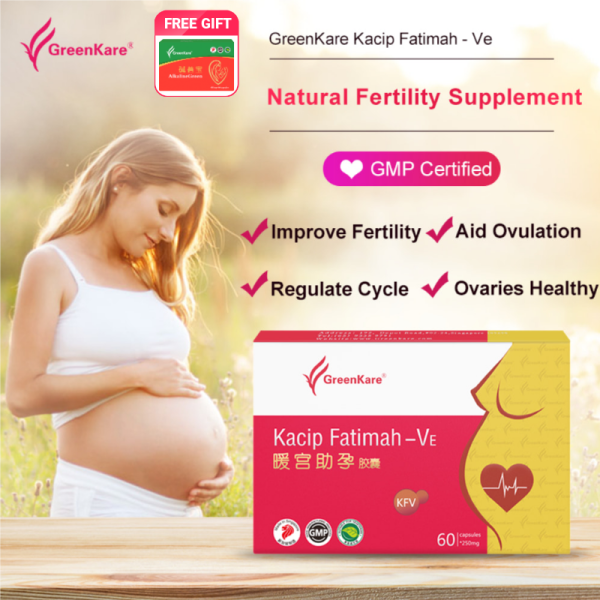 Buy GreenKare Fertility Supplement - Natural Regulate Your Cycle + Balance Hormones + Conception + Aid Ovulation | Made in Singapore Singapore