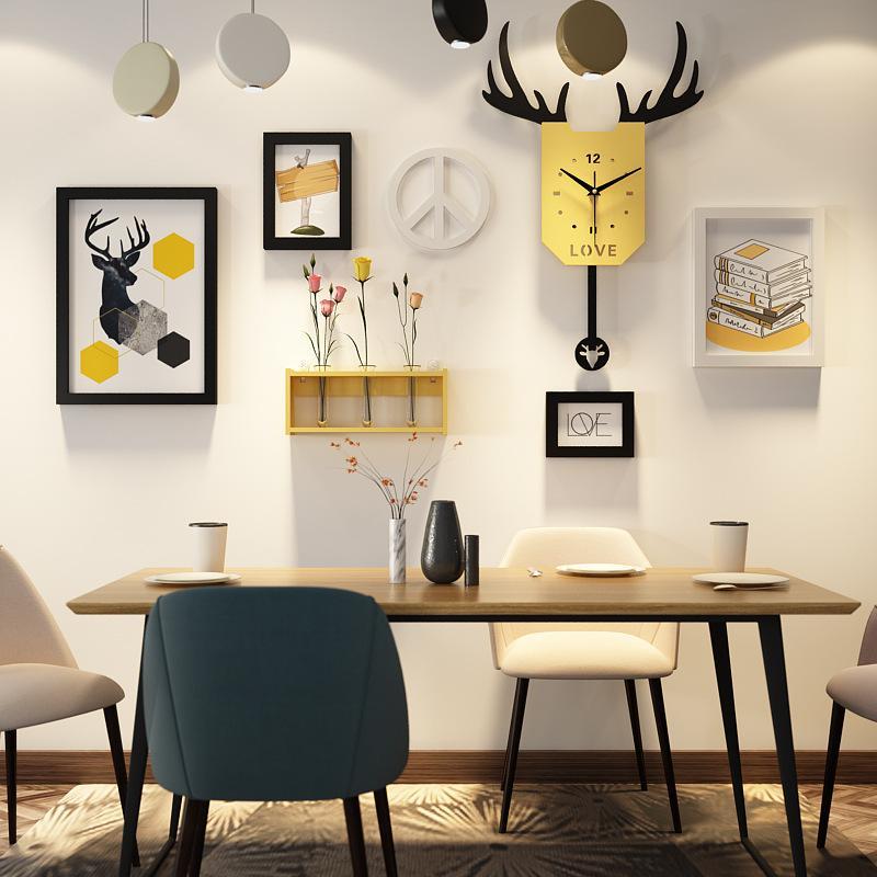 Living Room Nordic Combination Creative Decorative Painting B & B Walls Wall Restaurant Paintings Wall Mural