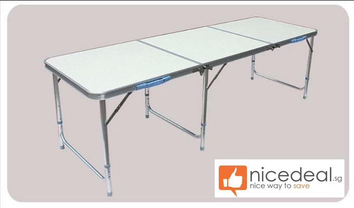 180 x 60 Portable Foldable Aluminium Table/Suitable for party, outdoor and event use