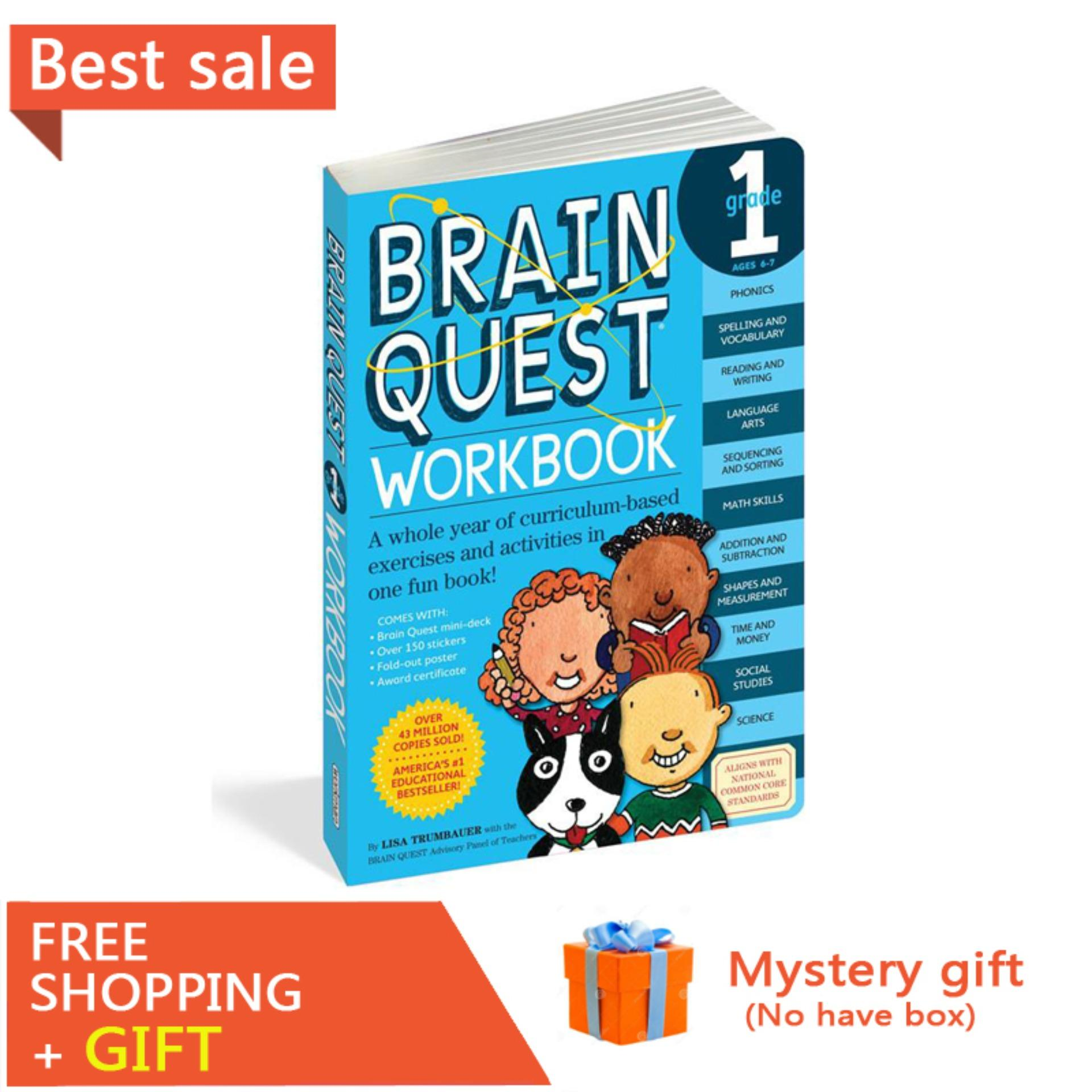 1 Brain Quest Workbook English Version of The Intellectual Development Card Books Questions and Answers Card Smart Child Kids