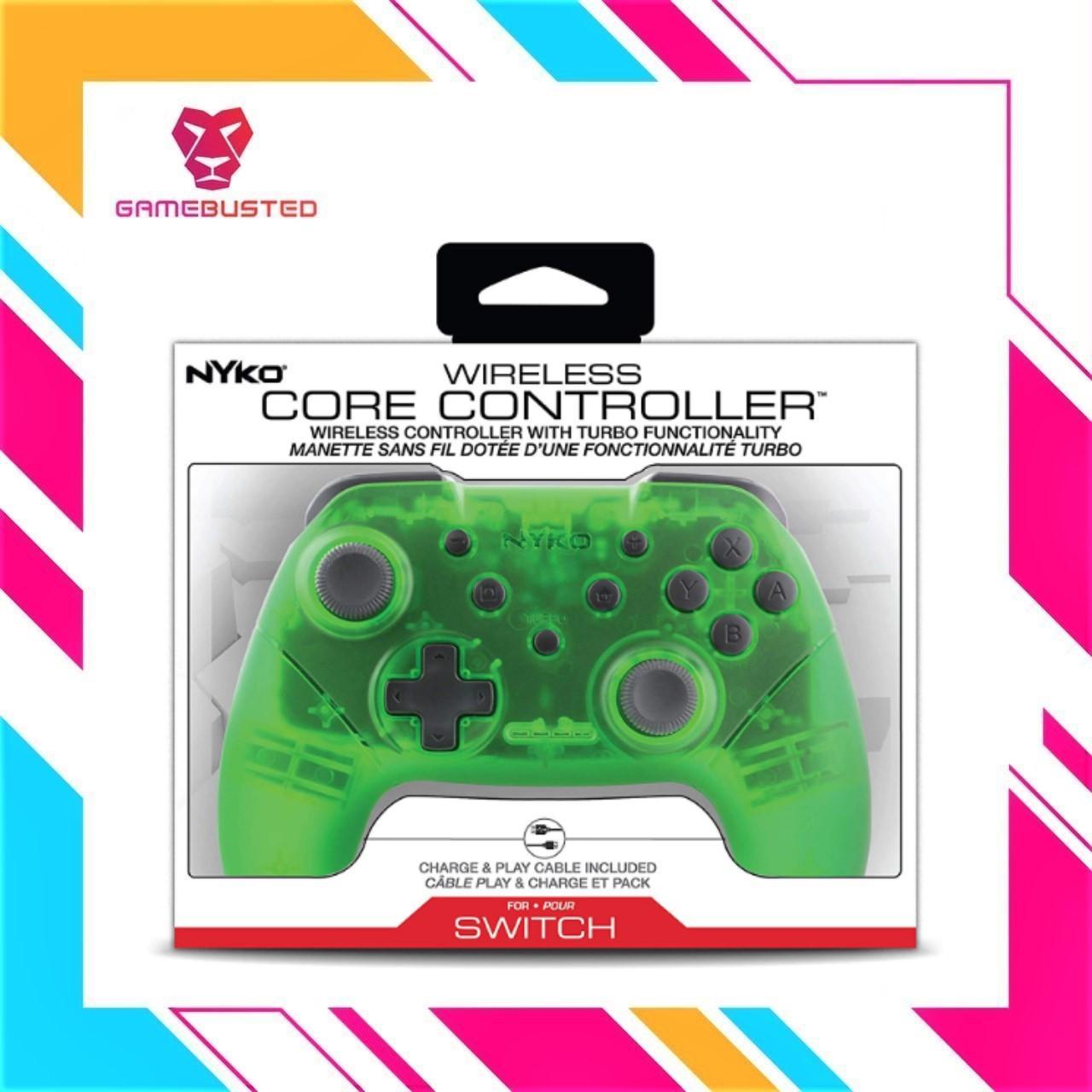 NYKO Nintendo Switch Wireless Core Controller Translucent Green (87264)