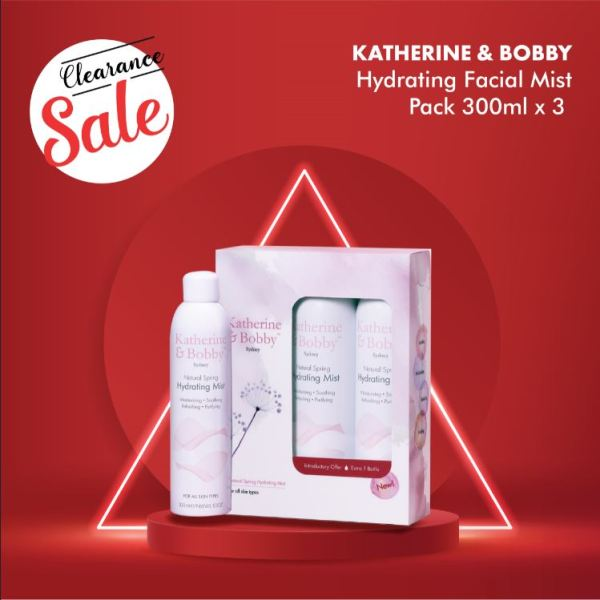 Buy [CLEARANCE SALE] Katherine & Bobby Natural Spring Hydrating Facial Mist Pack 300ml x 3 Singapore