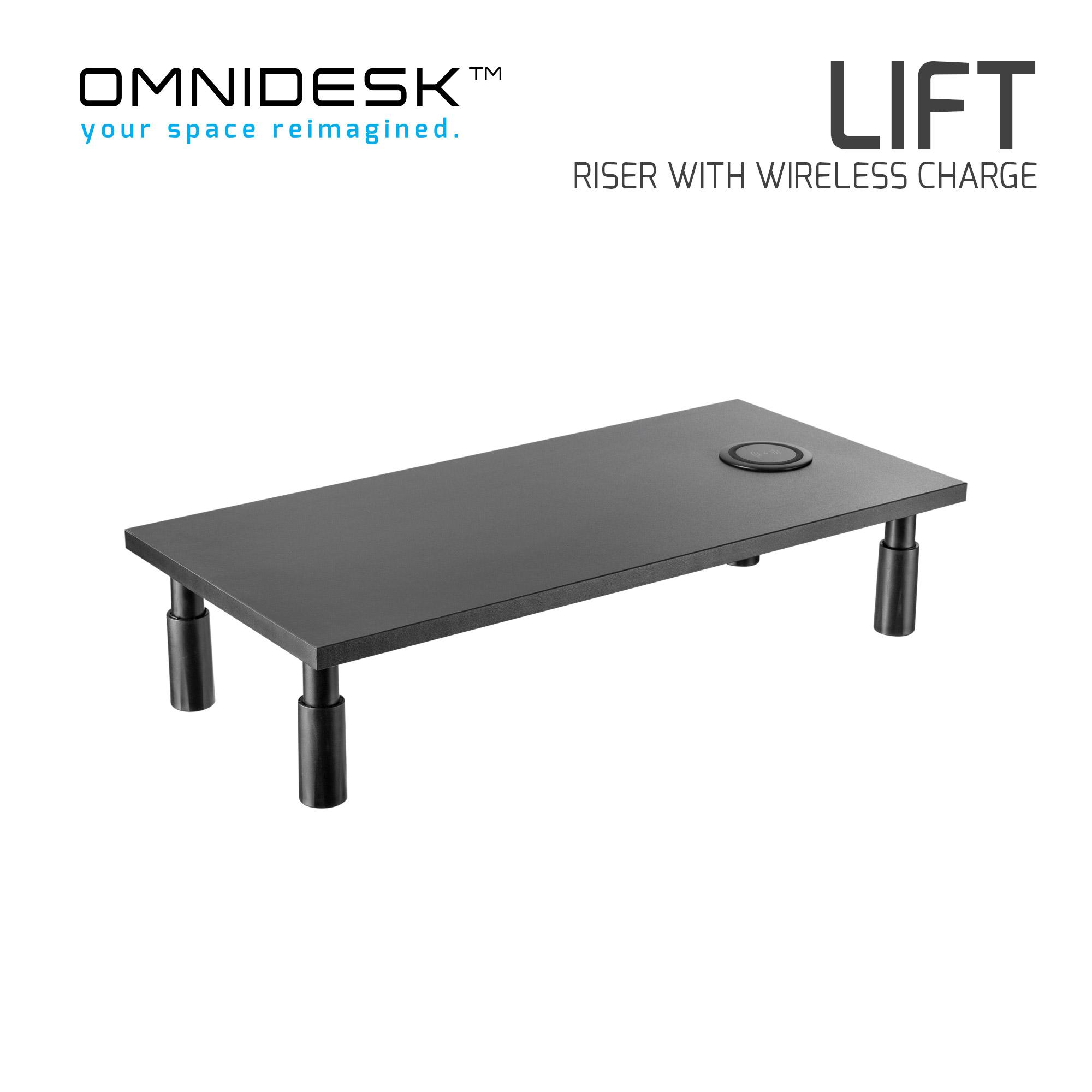 Omnidesk Lift - Riser with Wireless Charging