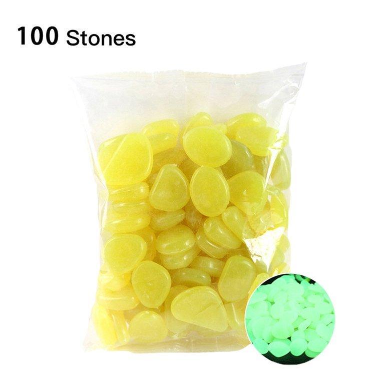 Hot Sale Garden Pebbles Glow Stones Rocks for Walkways Garden Path Patio Lawn Garden Yard Decor Luminous stonesColor Mixing100pcs