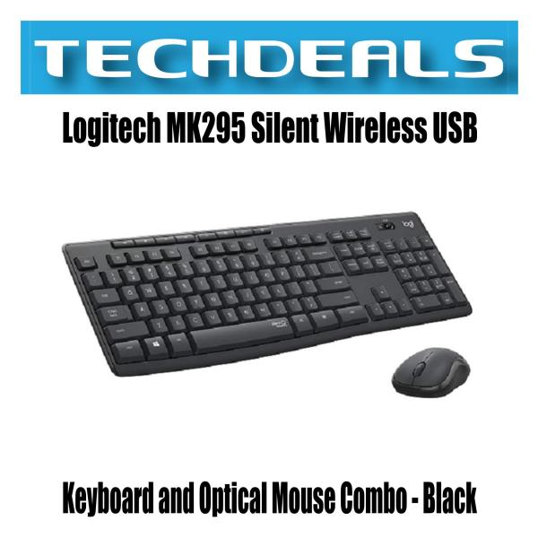 Logitech MK295 Silent Wireless USB Keyboard and Optical Mouse Combo - Black Singapore