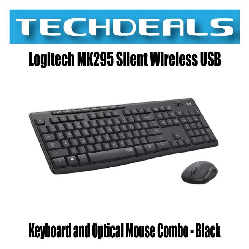 Logitech MK295 Silent Wireless USB Keyboard and Optical Mouse Combo - Black Singapore