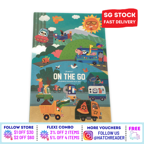 [SG Stock] Reusable Sticker Play Book - Noisy City Activity Book Toy Educational 200 stickers - Double Side Large Spread for childrenkids baby toddler 3 4 5 6 years old -