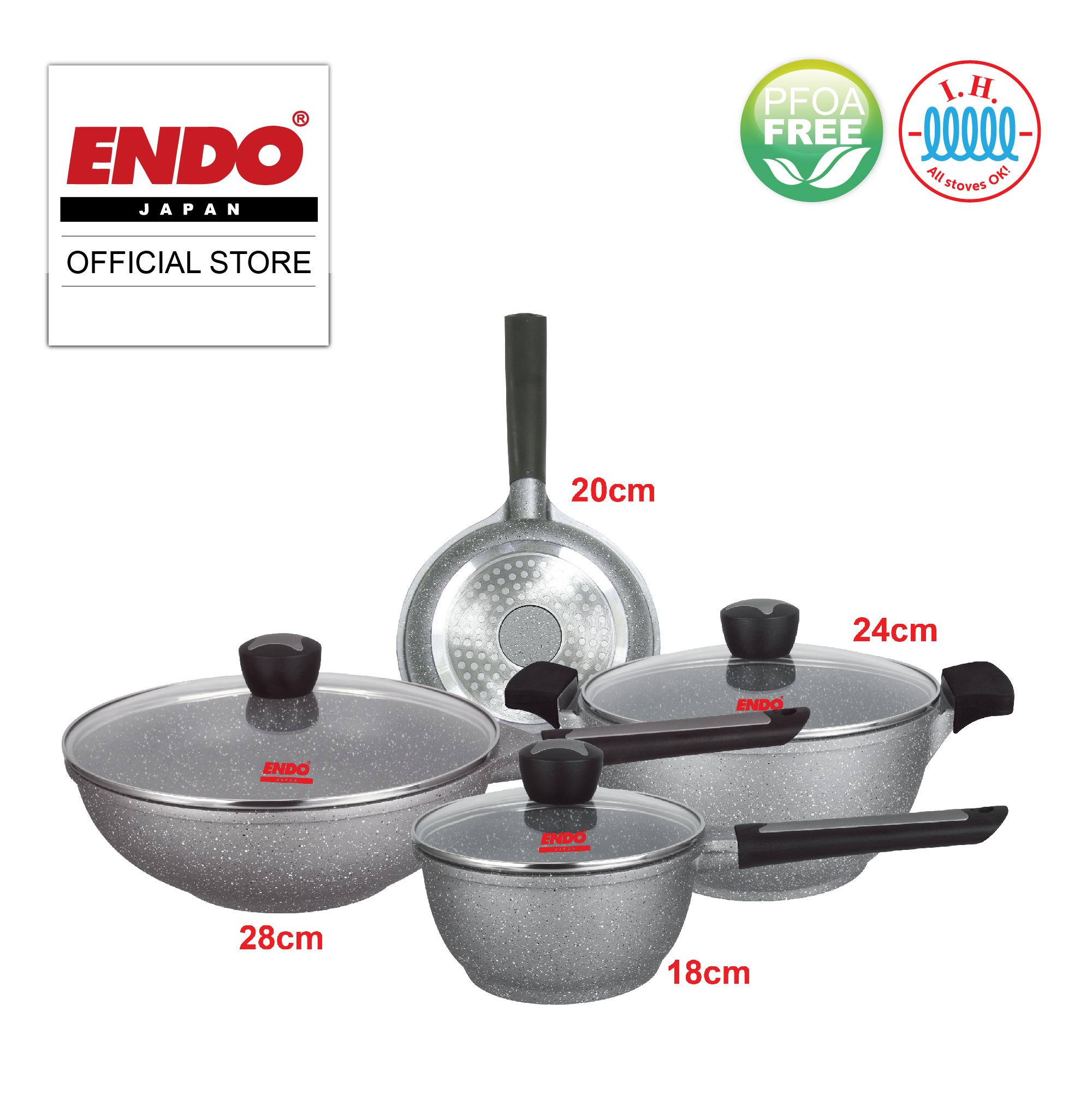 dad7b121bb7 Endo 7PC Induction Die Cast Cookware Set - E-DCS7IH