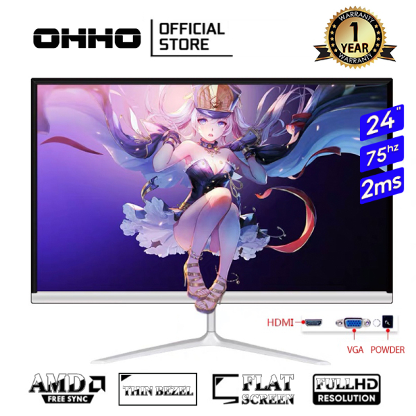 "【ready stock】24""inch OHHO Korean brand 75Hz full HD IPS gaming monitor"