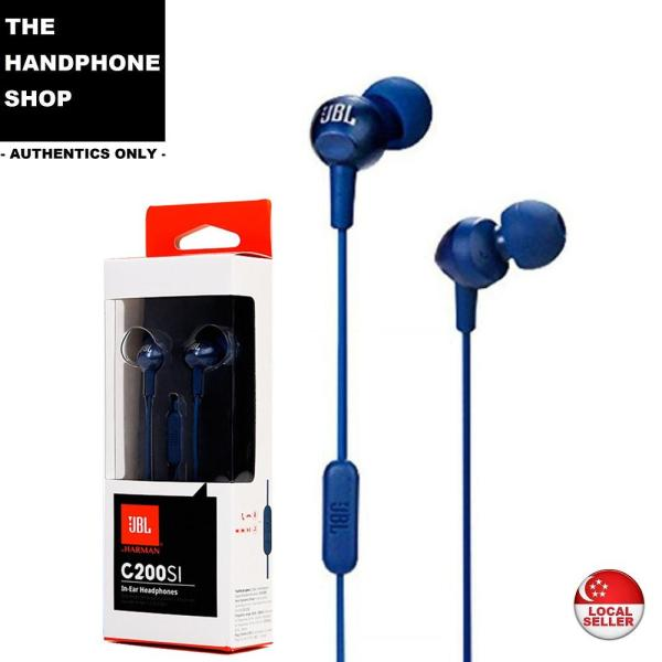 JBL C200SI PureBass In-Ear Headphones with Microphone & Remote Singapore