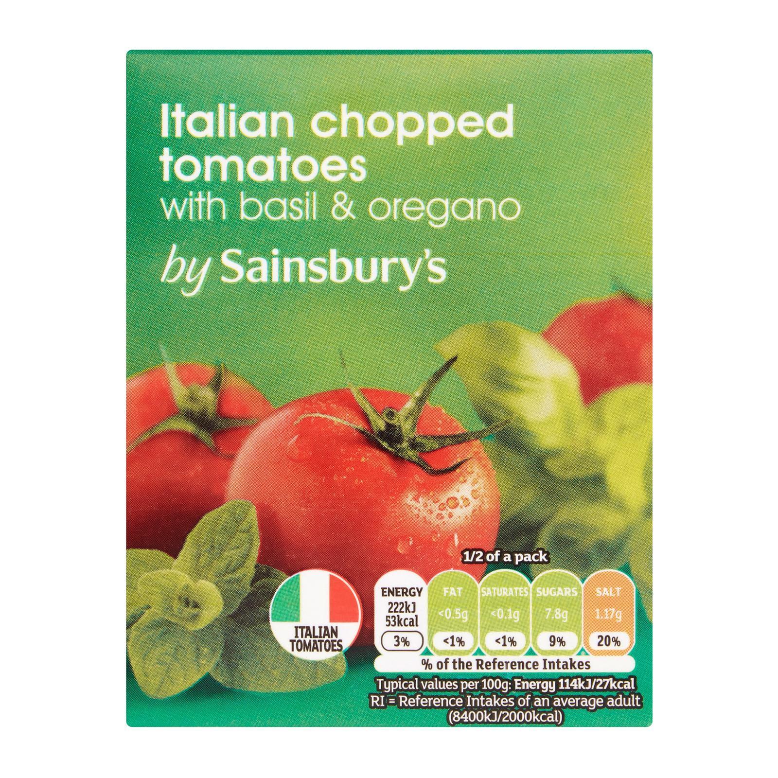 Sainsbury's Chopped Tomatoes With Basil And Oregano