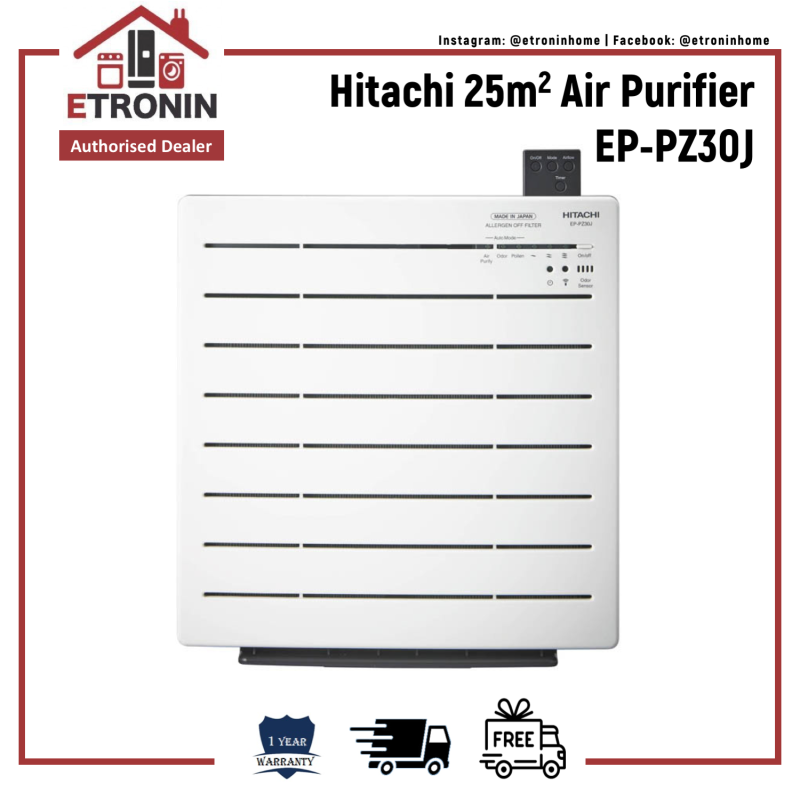 Hitachi 25m2 Air Purifier EP-PZ30J Singapore