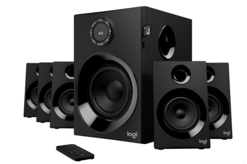 Logitech Z607 5.1 Surround Sound Speaker System With Bluetooth & FM Radio - EBL Singapore