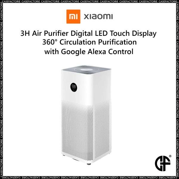 Xiaomi 3H Air Purifier Digital LED Touch Display 360° Circulation Purification with Google Alexa Control Singapore