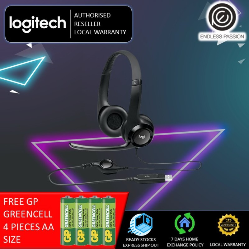 Logitech H390 USB Headset with Noise Cancelling Mic Singapore