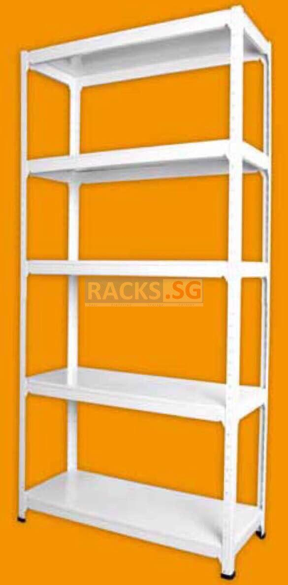 5-Tier DIY Full Metal Boltless Racks Available in 6 Colours!! FREE Delivery!!