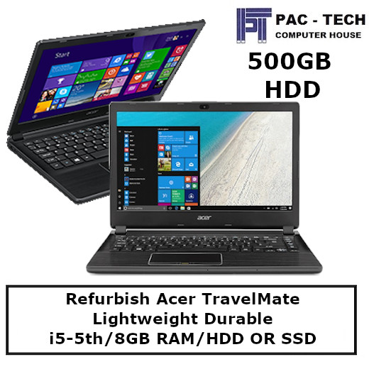 [Refurbish] Acer TravelMate / i5 / 8GB RAM / HDD Or SSD Option / 14 / Windows 10 / 3 Month Shop Warranty