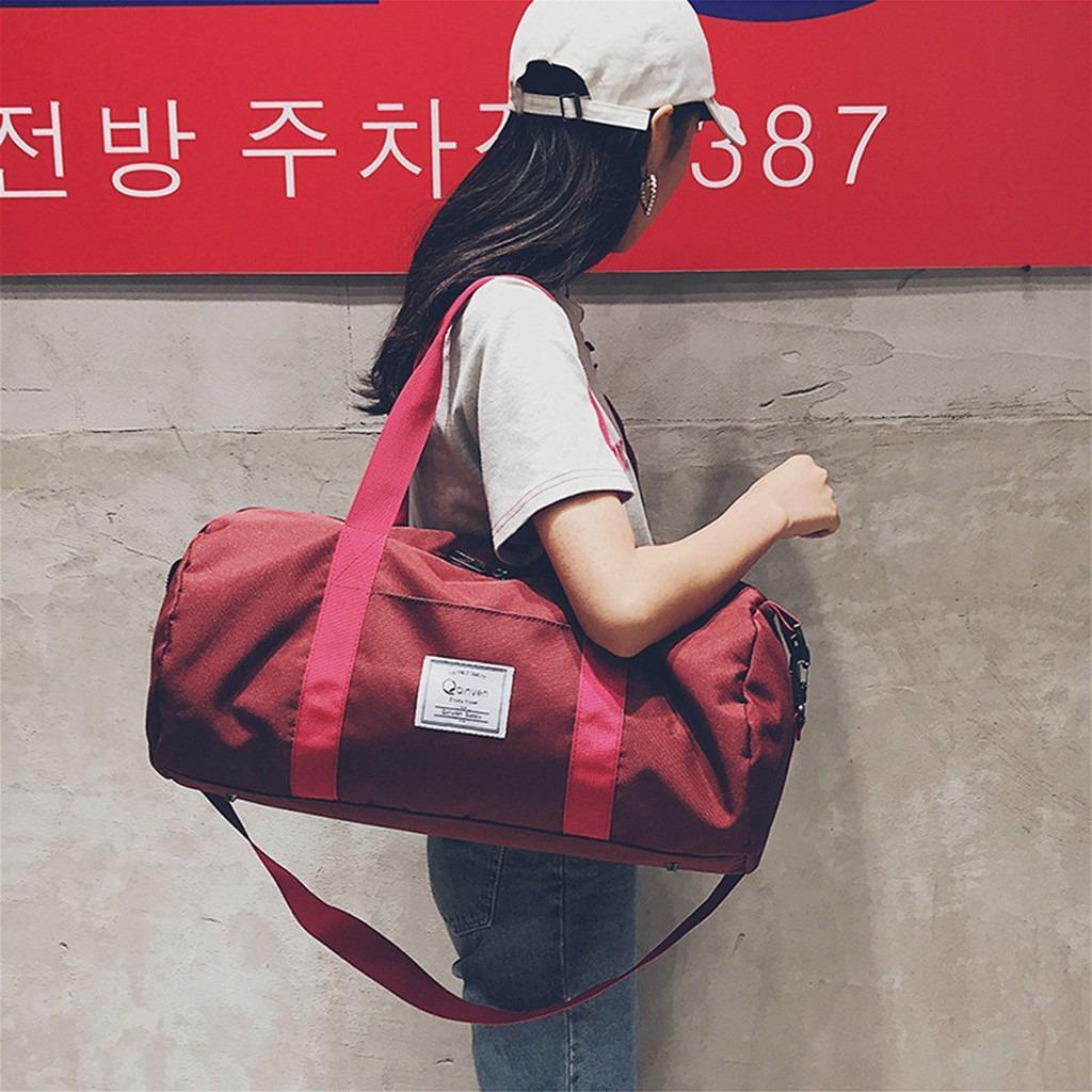 YShop Oversized Canvas Travel Duffel Big Capacity Luggage Weekend