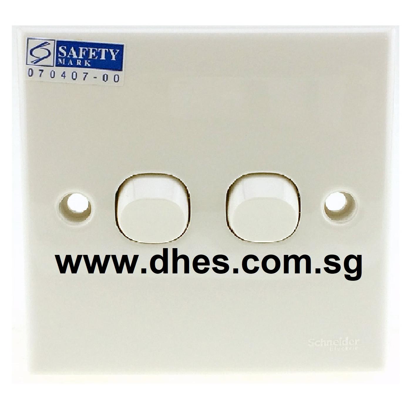 Clipsal / Schneider 10A Flush Switch 2 Gang