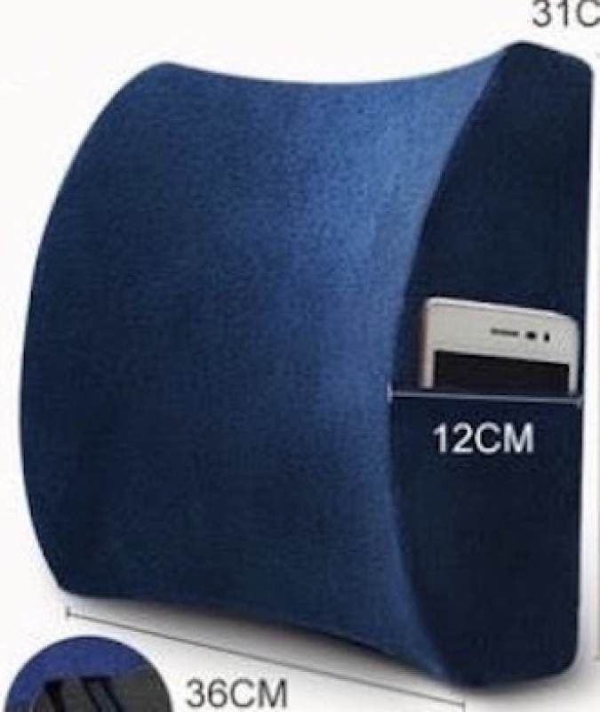 UMD Memory Foam Lumbar Cushion with Mobile Phone Pocket for Office Chairs and Car Seats Singapore