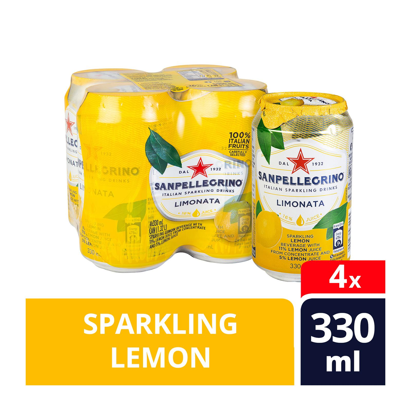 San Pellegrino Sparkling Fruit Beverage, Limonata - Lemon