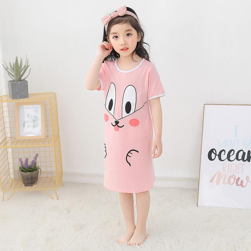Nơi bán Bé Gái Cotton 2020 Váy Ngủ Mặc Nhà Hoạt Hình Rời Cô Gái Đầm Midi