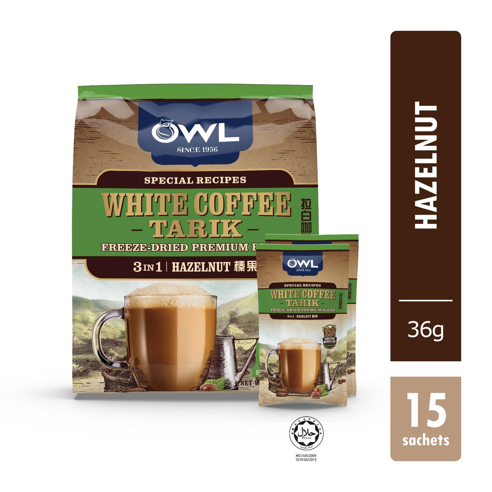 OWL White Coffee Tarik – Hazelnut 15sX36g
