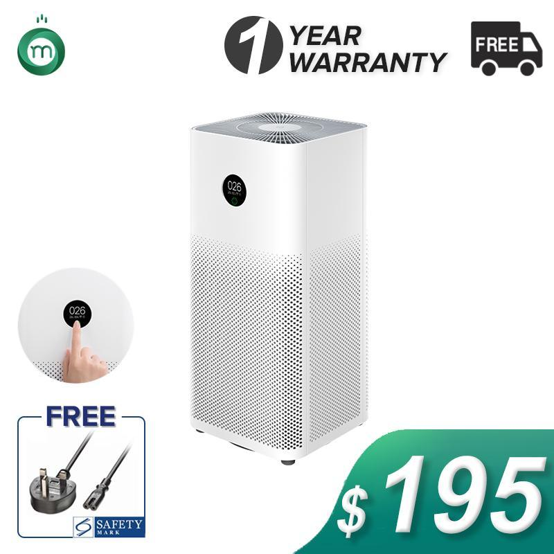 Xiaomi Air Purifier Gen 3  OLED Touch Display  Local Delivery & Warranty  Safety Mark Approved Adaptor Provided Singapore