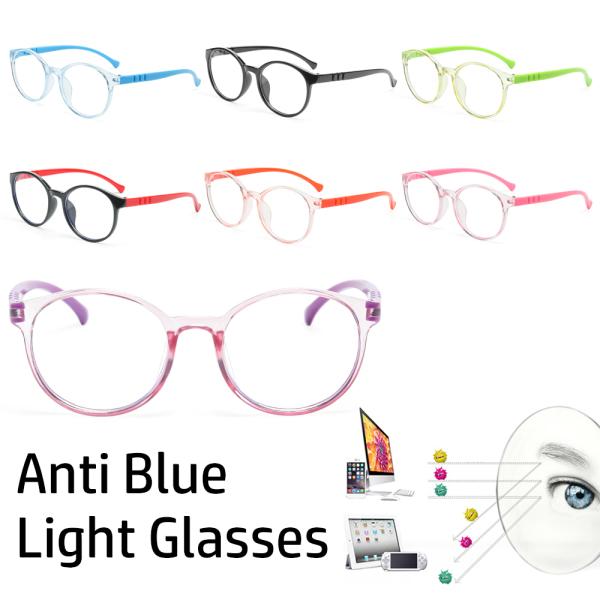Giá bán LANZEONT Children Soft Frame PC Transparent Kids Eyewear Clear Lens Computer Glasses Blue Light Blocking Glasse