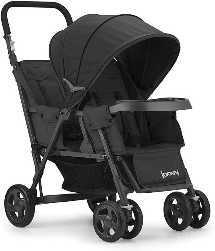 Joovy Caboose Too Graphite Sit and Stand Stroller Tandem Double Stroller (Black) Singapore