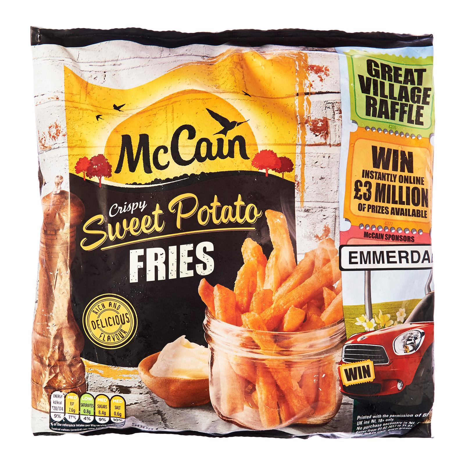 McCain Crispy Sweet Potato Fries - Frozen