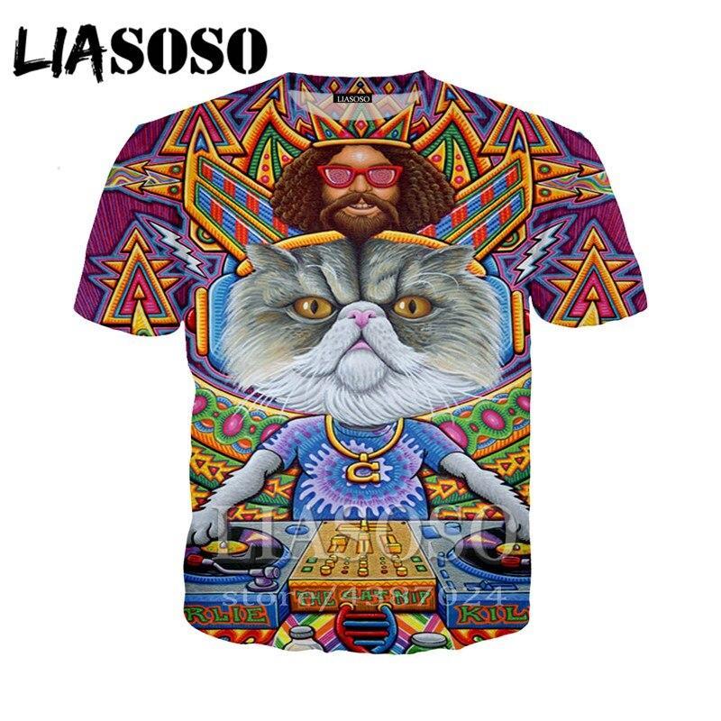 96c1726305b2 Men Women 3D print DJ Homme tshirt Crown cat Hip Hop Tops Psychedelic  hoodies Vest/