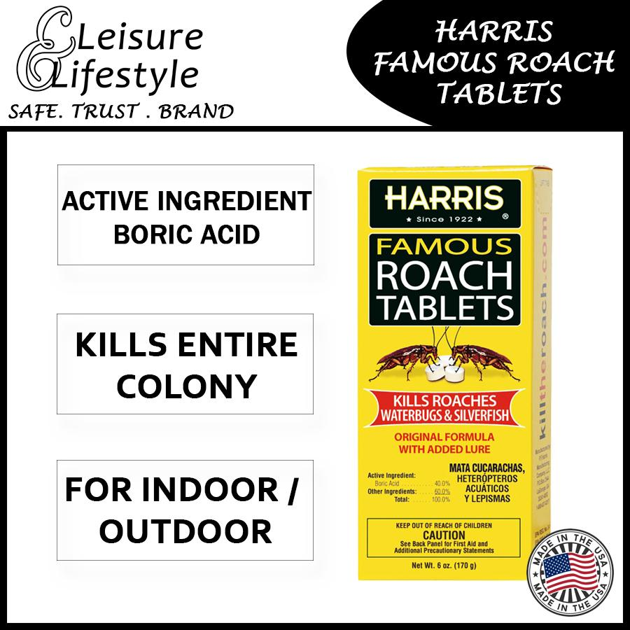 PF Harris Famous Roach Tablets With Added Lure 6oz (145 Tablets) Cockroach Killer and Cockroach Bait