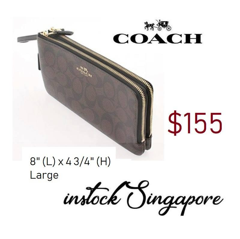 Coach DOUBLE ZIP WALLET IN SIGNATURE COATED CANVAS (COACH F16109) large