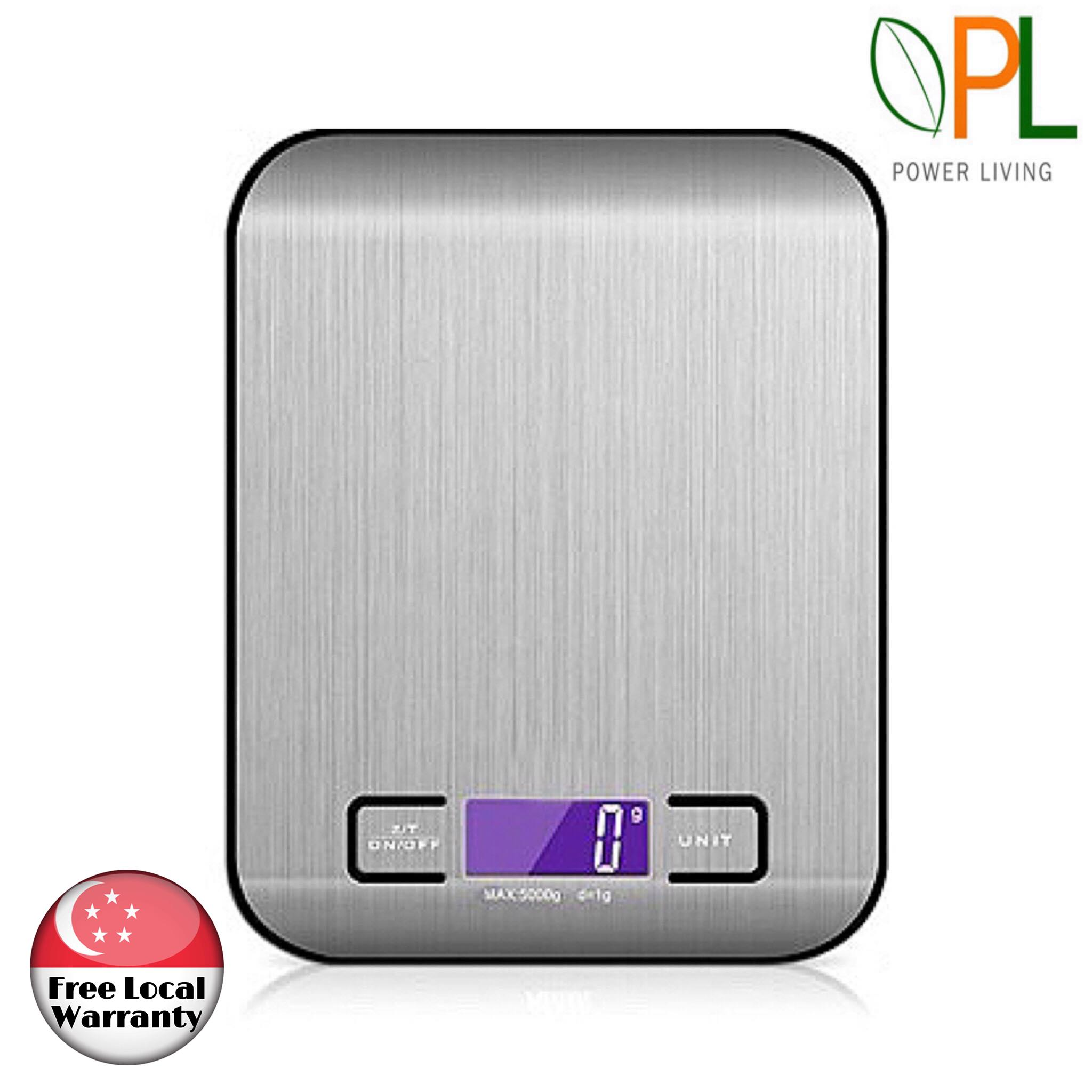 b351af6e9168 Digital Weighing Scale Kitchen LED Backlight Weigh Range 10kg LED Screen  Mini Electronics Multifunction Cooking Baking Measuring Tool– Silver