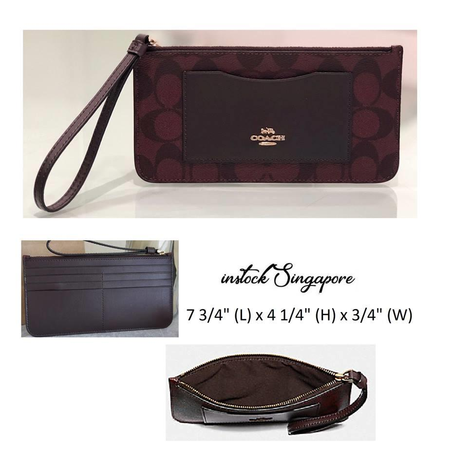 Authentic COAC ZIP TOP WALLET IN SIGNATURE CANVAS (COACH F37565)
