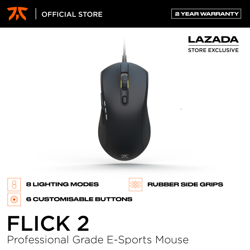 Fnatic Flick 2 Gaming Mouse, Professional Grade E-Sports Gaming Mice