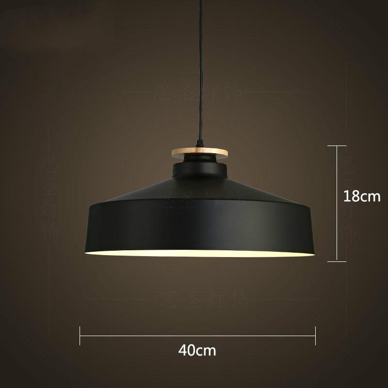 Nordic Style Restaurant Chandelier Creative Home Living Room Hotel Der Bar Bedroom Ceiling Lamp with E27 Light Source 40cm Black - intl