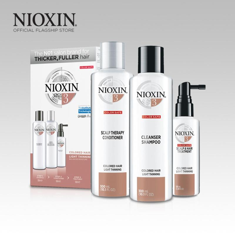 Buy Nioxin System 3 Loyalty Kit for Colored Hair, Light Thinning Singapore