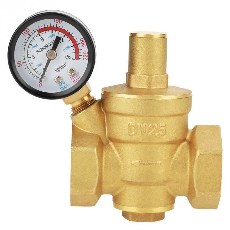 Dn25 Pressure Reducer Adjustable Water Pressure Reducing Regulator Reducer+Gauge Meter
