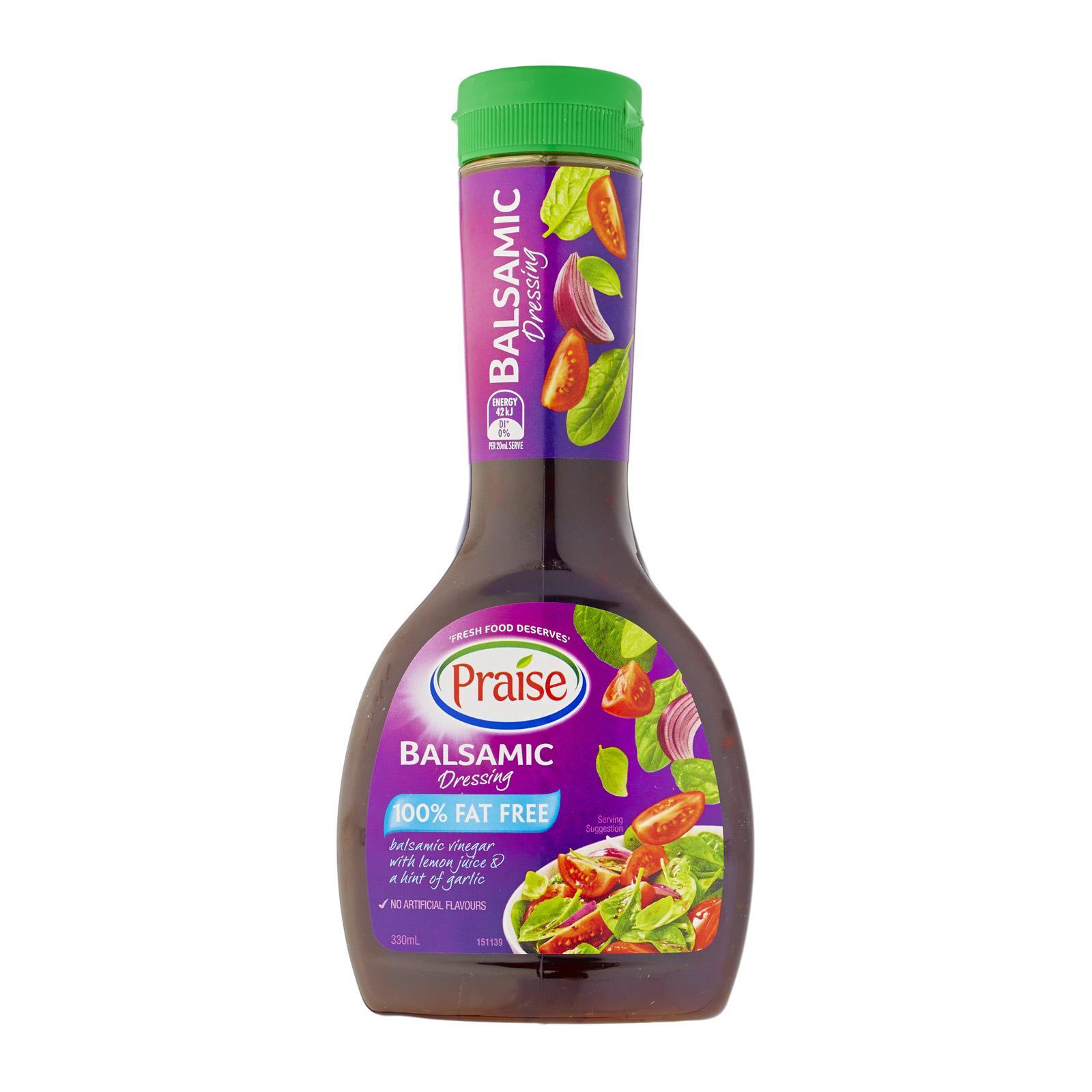 Praise Balsamic Italian Salad Dressing 100% Fat Free